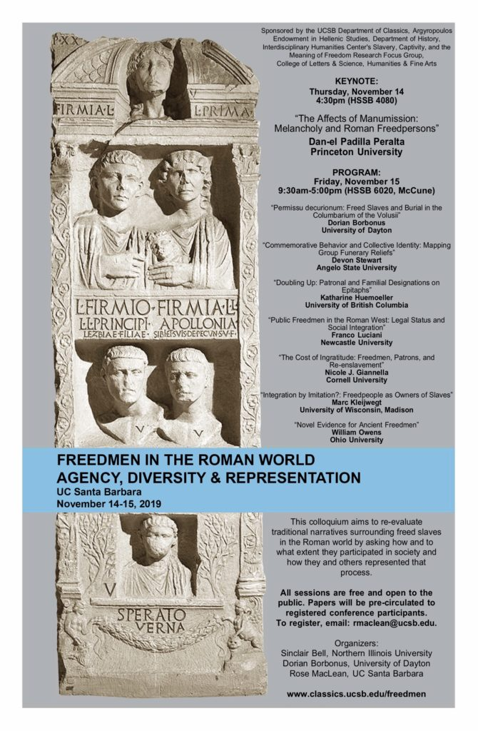 Conference Freedmen in the Roman World @ HSSB 4080