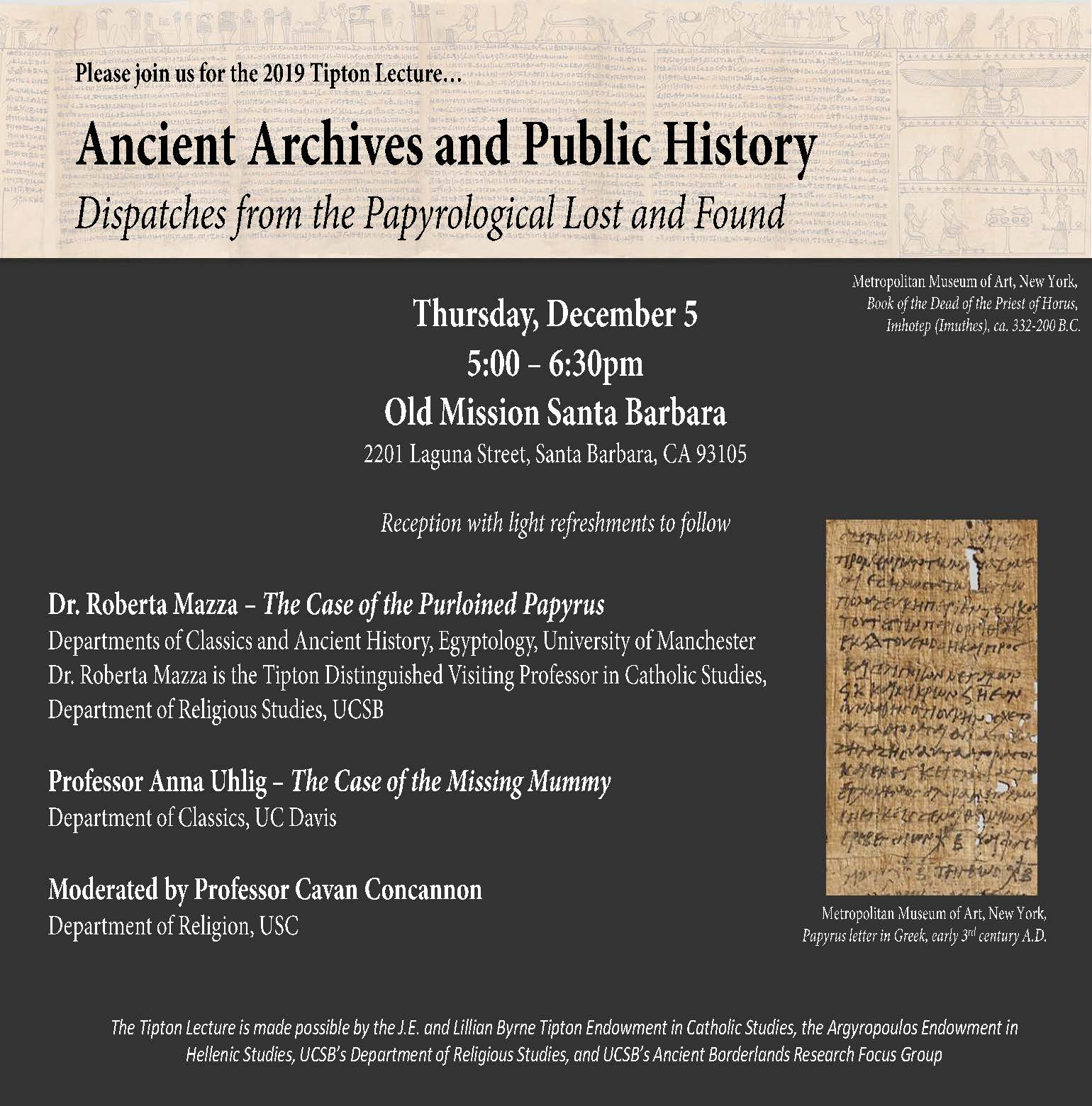 "R. Mazza & A. Uhlig - ""Ancient Archives and Public History"""